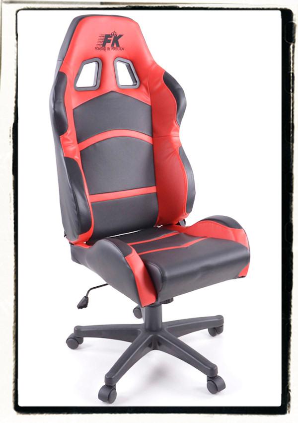 fk b rostuhl sportsitz racing b ro drehstuhl chefsessel schwarz rot kunstleder ebay. Black Bedroom Furniture Sets. Home Design Ideas