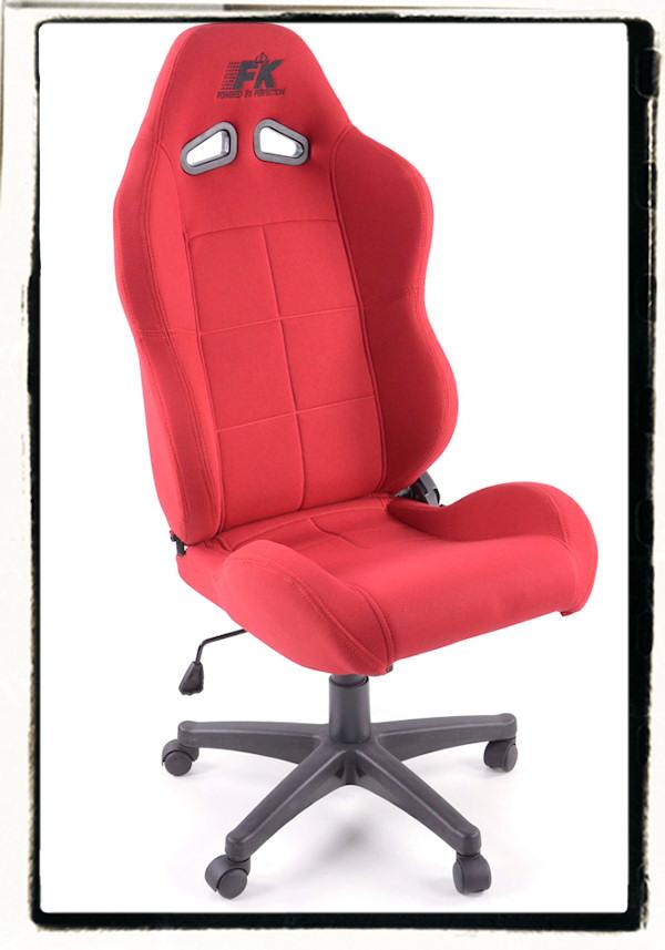pro sport b rostuhl sportsitz racing b ro drehstuhl chefsessel rot red stoff neu ebay. Black Bedroom Furniture Sets. Home Design Ideas