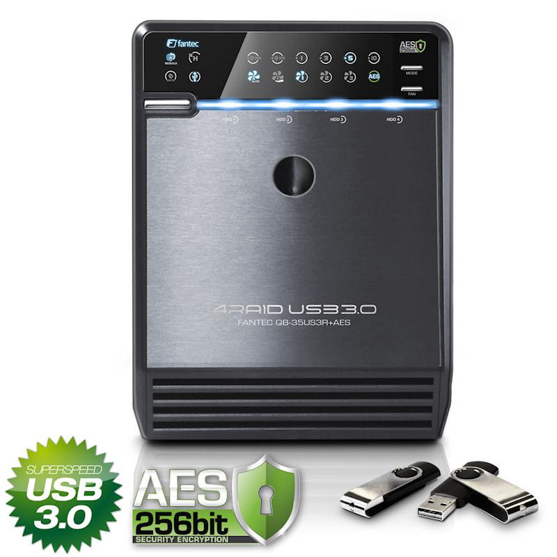 FANTEC-QB-35US3R-RAID-USB-SATA-AES-Server-4-x-1500-GB